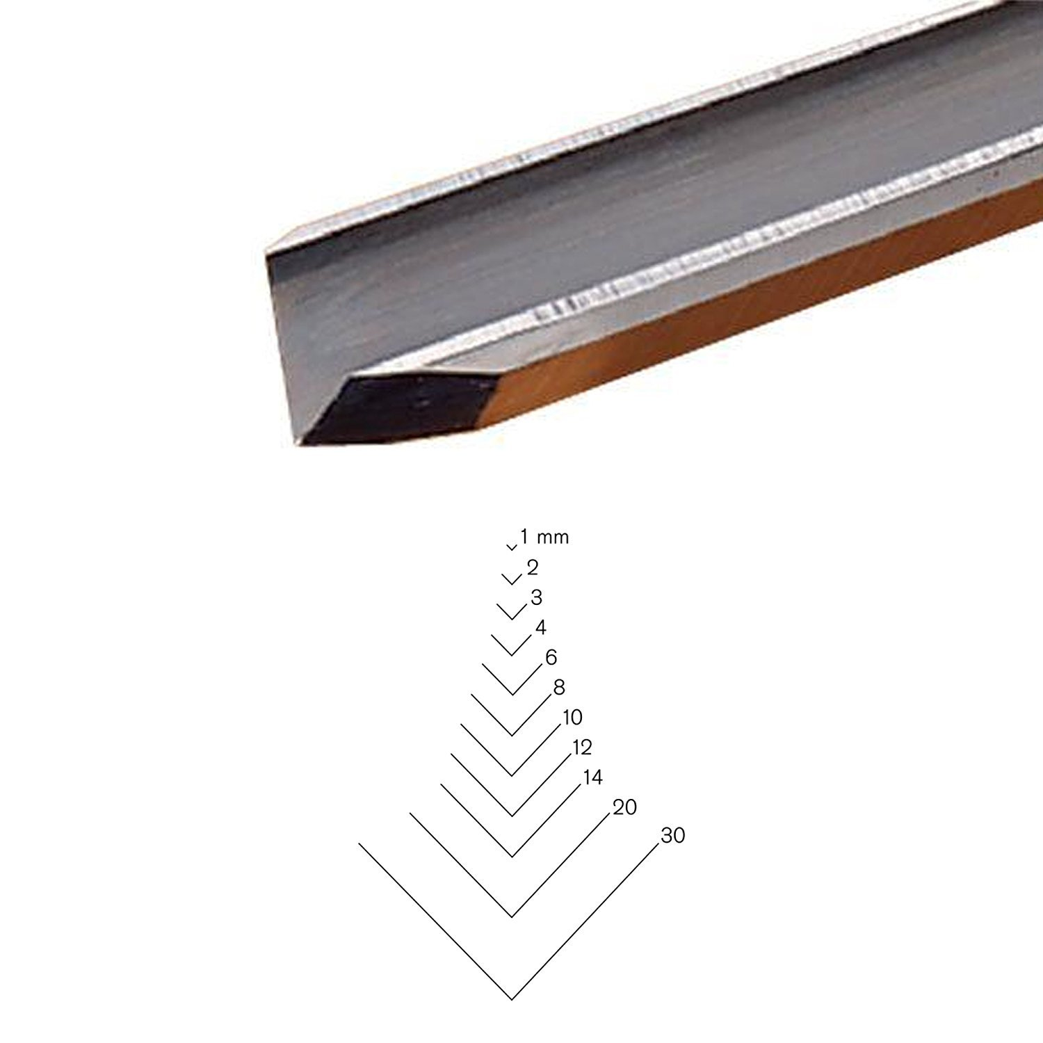 PFEILSwiss Made 1mm # 13 Sweep V-Parting Tool