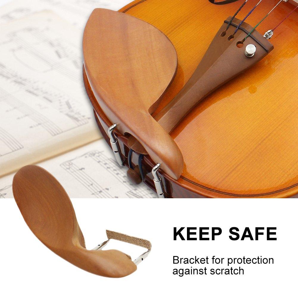 Dilwe Violino mentoniera mentoniera violino in legno con staffa in sughero per 3//4/4//4/violino