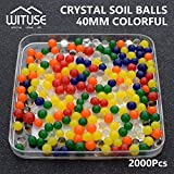 2000PCS WATER BALLS GROWING CRYSTAL SOIL AQUA BEADS 6.8MM COLORFUL GEL DECOR