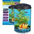 API Aquaview 360 Aquarium Kit with LED Lighting and Internal Filter