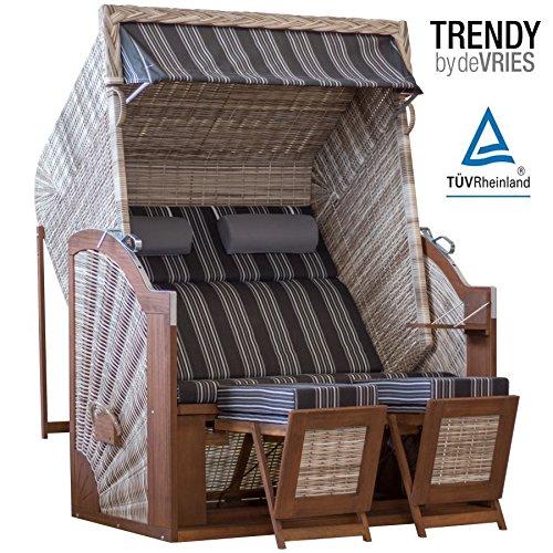 STRANDKORB TRENDY PURE CLASSIC XL SUN SEASHELL DESSIN 423