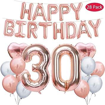 Amazon.com: 30 cumpleaños decoraciones suministros de fiesta ...