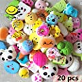 Random 20 pcs Squishy Cream Scented Slow Rising Kawaii Simulation bread children toy Jumbo Medium Mini Soft Squishy Cake/Panda/Bread/Buns Phone Straps By M-Gigi from M-Gigi