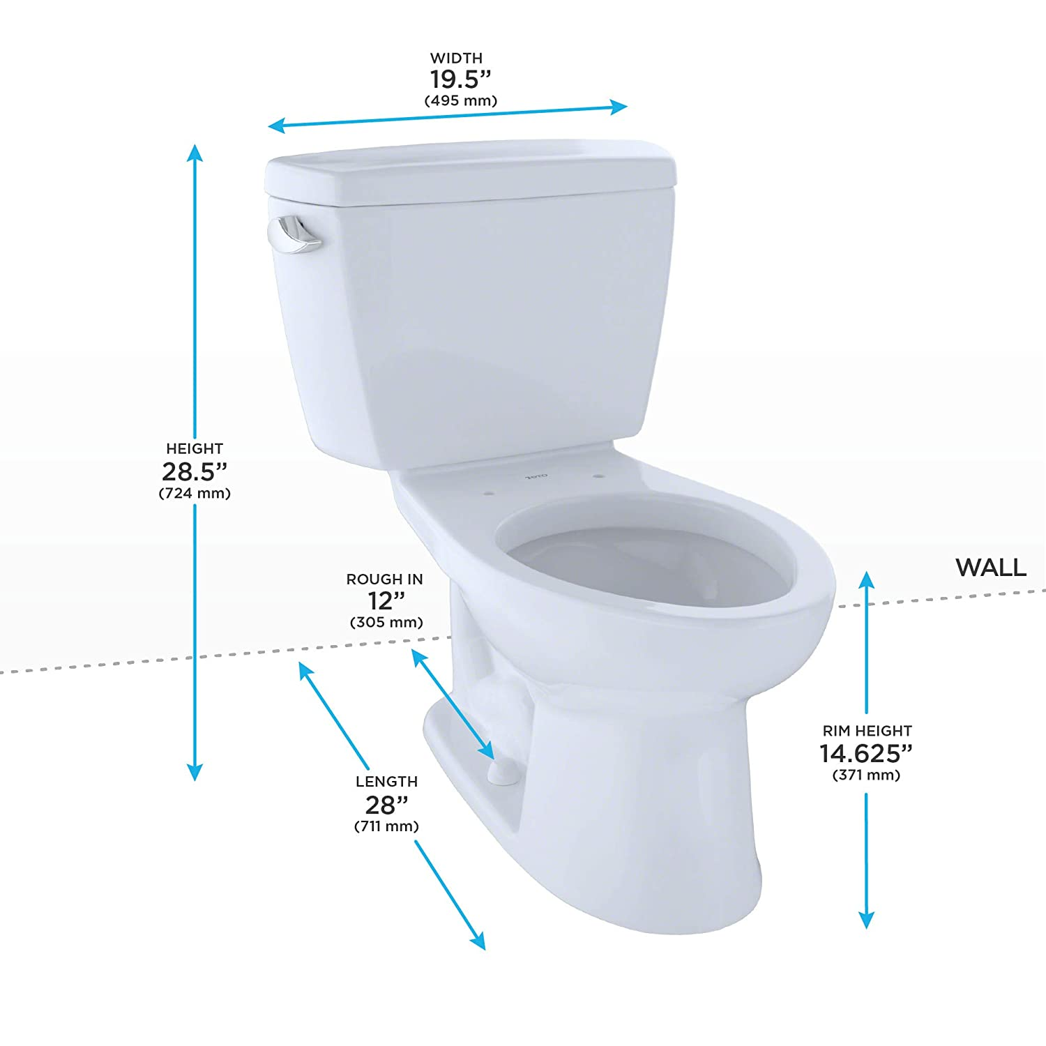 Amazon.com: TOTO CST744SG#01 Drake 2-Piece Toilet with Elongated ...