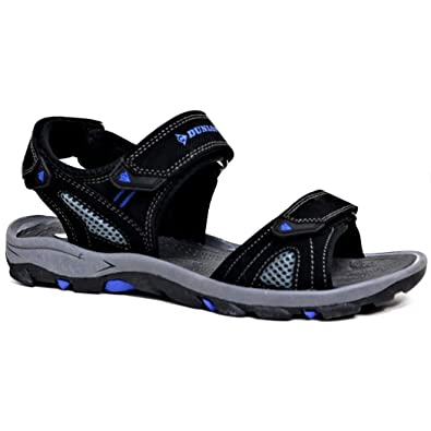 Dunlop Men's Sports Beach Trekking Walking Hiking Hook & Loop Sandals Sizes  7-12 (