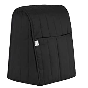 Homai Stand Mixer Cover with Two Side Pockets Design for Kitchenaid, Sunbeam, Cuisinart, Hamilton Mixer (Black)
