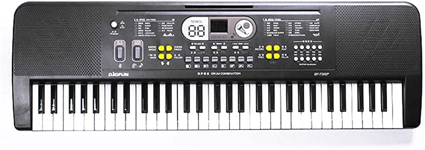 Lixada 61 Keys Digital Music Electronic Keyd Kids Electric Piano for Piano Student with Microphone Musical Instrument