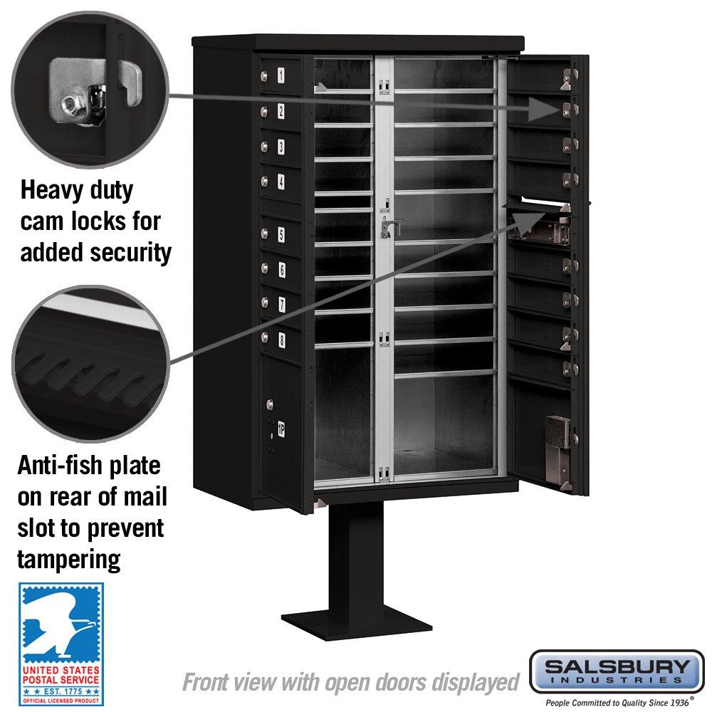 White Type III Cluster Box Mailbox Unit Salsbury Industries 3316WHT-U 16 A Size Doors