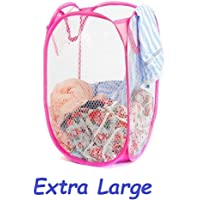 Nimbose® Dirty Clothes Laundry Basket Bin, Laundry Bag, 30 litres for Storage of Clothes and Toys (Random Color)