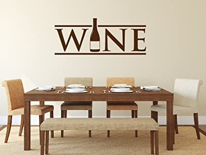 Superbe N.SunForest Wine Wall Decals Dining Room Wine Bottle Decal Vinyl Wall  Sticker Home Decoration