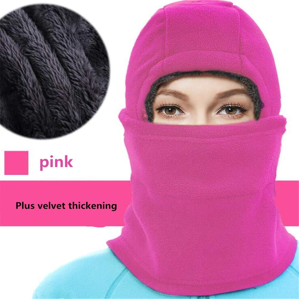 ZeHui Fleece Hood Neck Warmer for Men/Women Fleeced Cap Ski Face Mask for Outdoor Cycling Skiing Balacalvas Windproof Headgear Hat