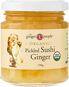 THE GINGER PEOPLE Organic Pickled Sushi Ginger, 190g