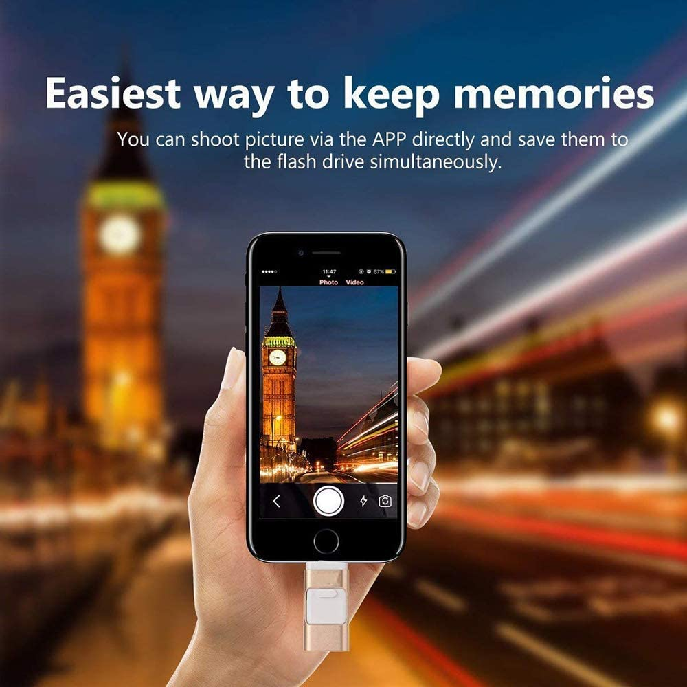 Android PC Photos and Mobile Phone and Computer Compatible 3.0 Flash Drive,256GB iPhone External Memory for iPhone WANGOFUN USB Flash Drive Photo Stick 256GB for iPhone