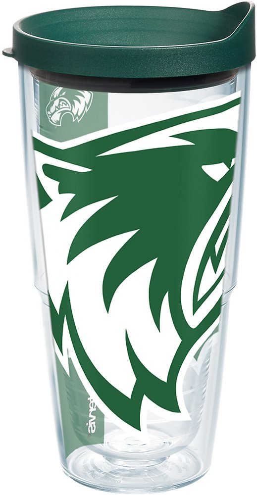 16oz Clear Tervis 1259006 Utah Valley Wolverines Colossal Insulated Tumbler with Wrap and Hunter Green Lid