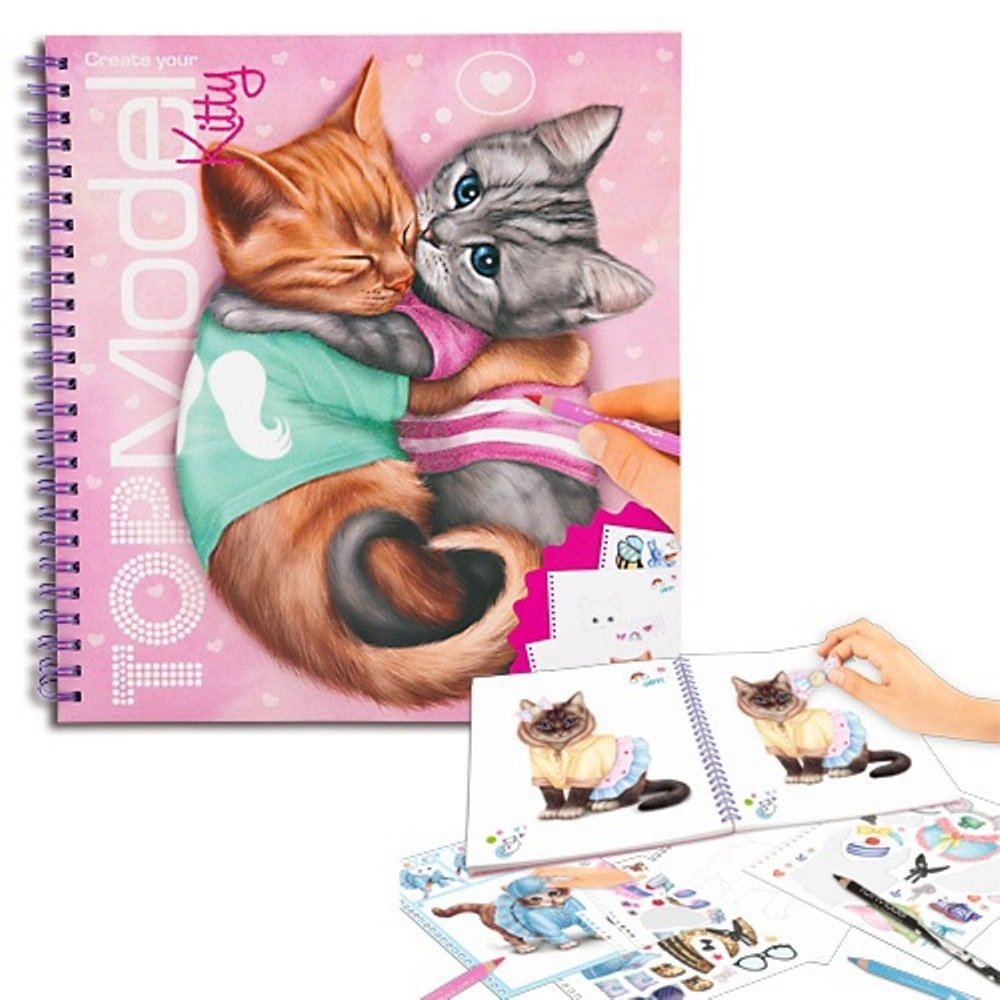 Album Coloriage Top Model Modele Create Your Kitty Chat Kontiki