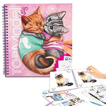 Album Coloriage Top Model Modele Create Your Kitty Chat Amazon Fr