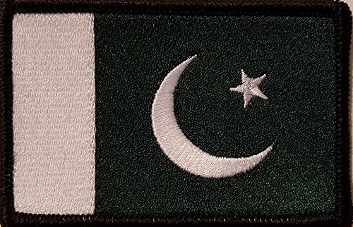 PAKISTAN Flag Embroidered Patch with VELCRO Brand Fastener Morale Military Emblem Black - Pakistan Of Brands