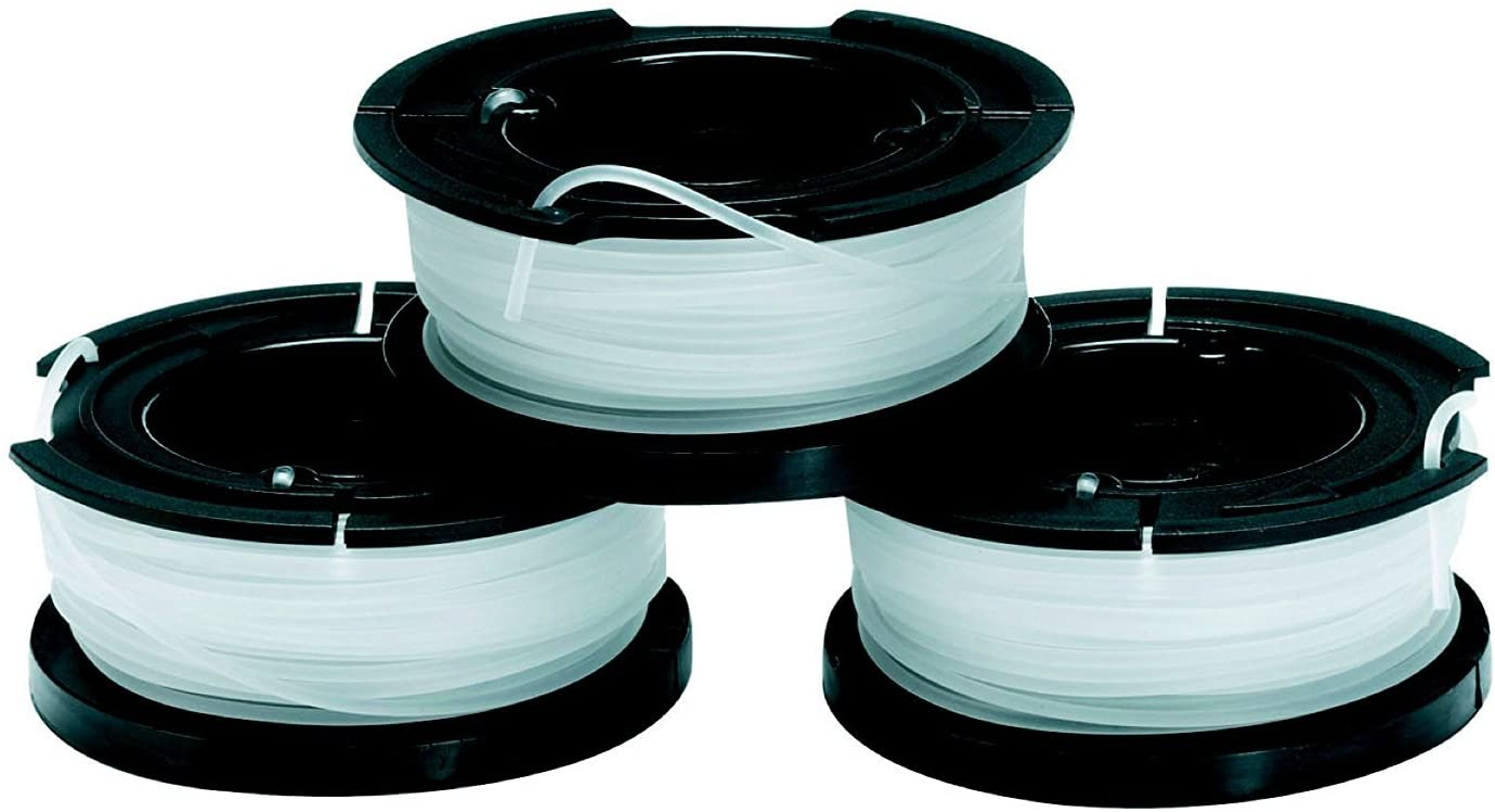 BLACK+DECKER A6485-XJ - Pack de 3 bobinas de hilo Reflex simple para cortabordes, 10m x 1.5mm