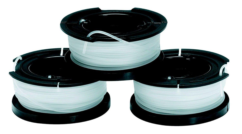 Black+Decker A6485-XJ - Bobina con hilo de 10m de largo y 1.5 mm de diámetro, paquete de 3 unidades, para los modelos con sistema de alimentación Reflex Simple de 1 hilo: ST5530, ST4525, ST1820, GLC3630L20, GL4525, GL5028, GLC1423L, GLC1825L, GLC3630L, ST