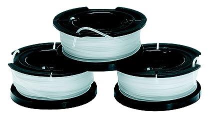 BLACK+DECKER A6485-XJ Set 3 Rocchetti Filo Nylon Reflex, per Tagliabordi: Amazon.it: Fai da te