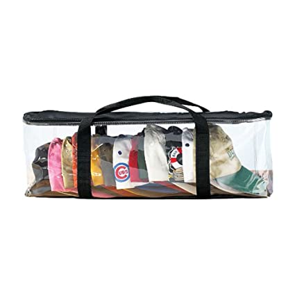 Houseables Hats Storage Bag, Baseball Cap Organizer, Washer Case, Clear  Plastic Holder,