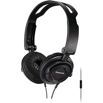 Panasonic FOLDZ On Ear Stereo Headphones with Mic/Controller RP DJS150M K  Black  Integrated Headphones