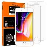 foto                       Spigen 2Pezzi Pellicola Vetro Temperato iPhone 8 Plus / 7 Plus, HD (0.33mm Premium Ver.) proteggischermo trasparente, Pellicola Prottetiva iPhone 8 Plus / 7 Plus, protezione per schermo (043GL20801)
