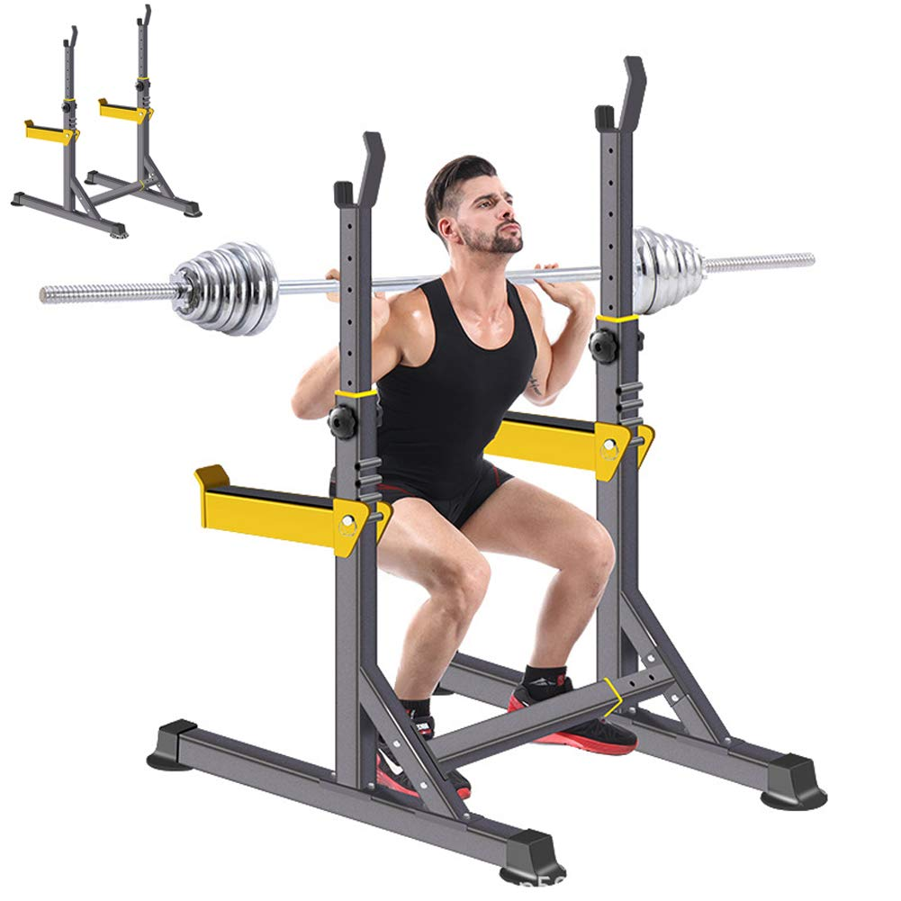 EFGS Squat Rack Multifunction Stand, Weightlifting Household Barbell Stand, Sturdy by EFGS