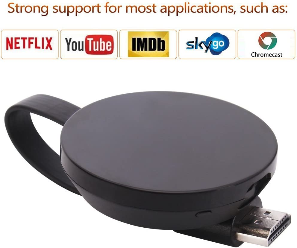 ATETION Wireless WiFi Display Dongle Adaptador de Receptor de TV 1080P Full HD Soporte Chromecast para Miracast Airplay DLNA TV Stick para Android/Mac/iOS: Amazon.es: Electrónica