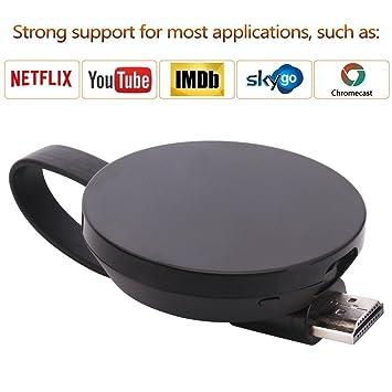 ATETION Wireless WiFi Display Dongle Adaptador de Receptor de TV 1080P Full HD Soporte Chromecast para Miracast Airplay DLNA TV Stick para Android/Mac/iOS: ...