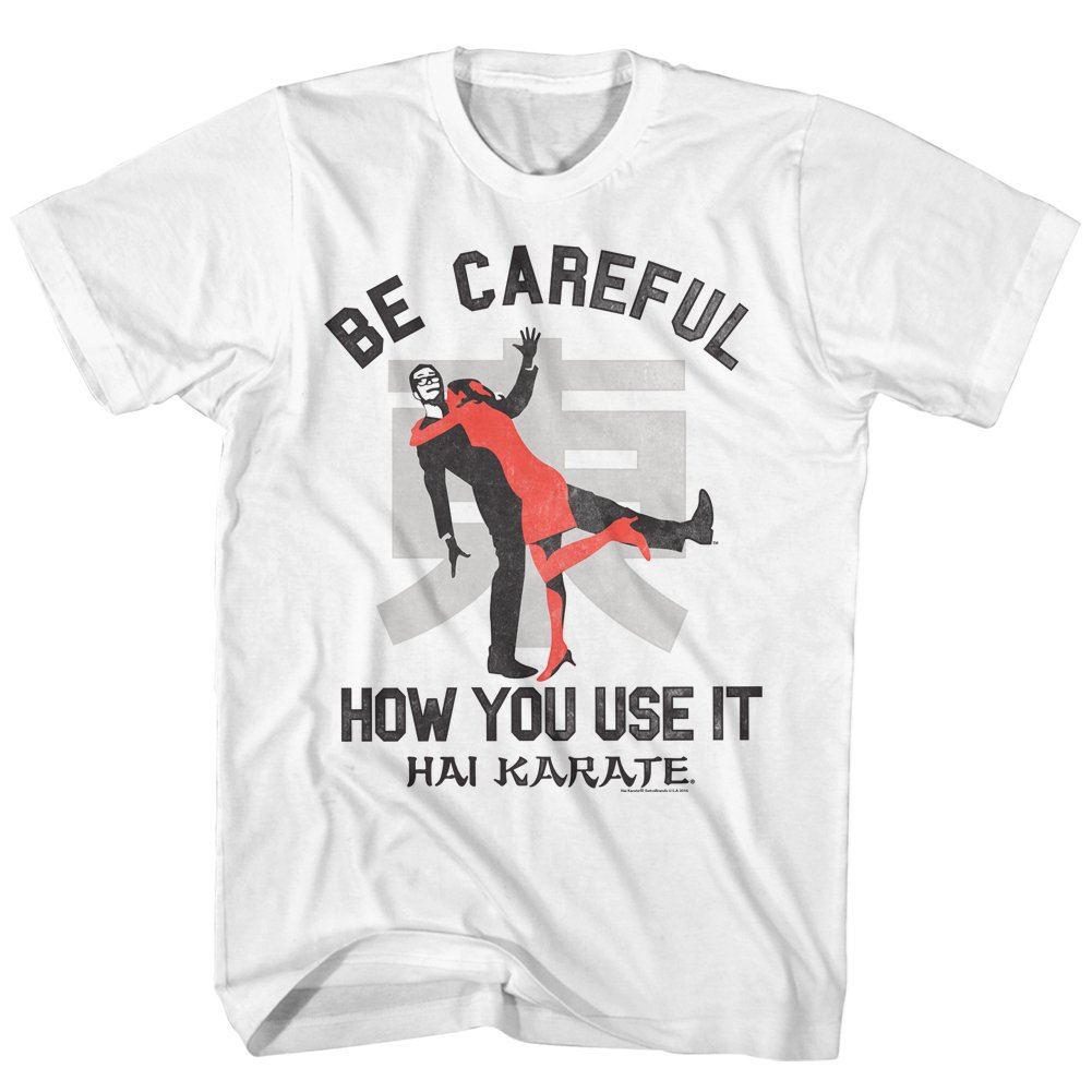 Hai Karate Aftershave Fragrance Careful How You Use It Attack Adult T-Shirt Tee by American Classics