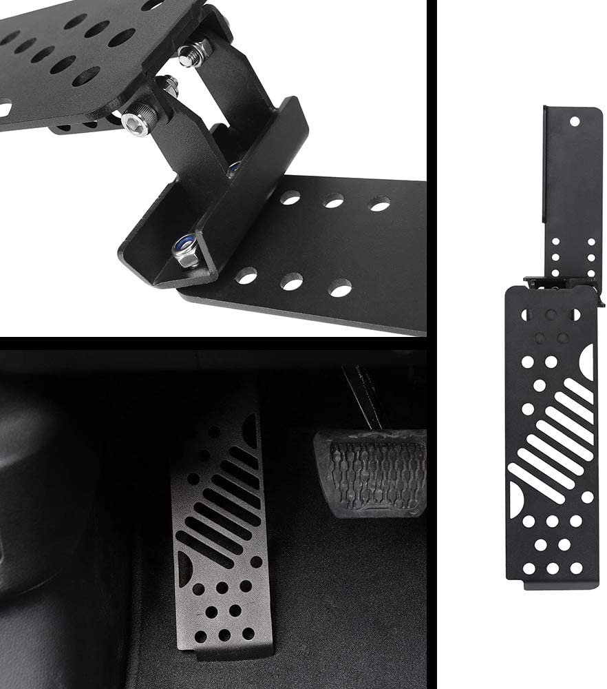 Left Foot Rest Dead Pedal Jeep Foot Rest Pedal for 2018 Jeep Wrangler JL /& Unlimited Aluminium Alloy Dead Pedals Foot Pegs Kick Panel