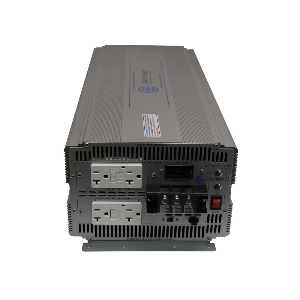 Aims Power 5000 Watt 12v Dc To 120v Ac Industrial Pure How Build A100 Sine Wave Inverter Circuit Homemade Automotive