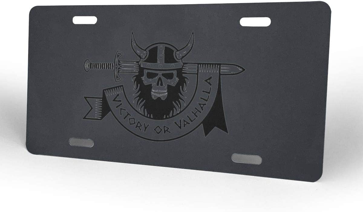 Alla Viking Plates Signs for Car Decoration 6 Inch X 12 Inch License Plates Victory Or Valh