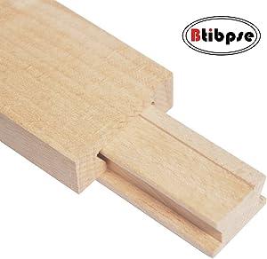 Btibpse Wooden Drawer Slides 40cm Classic Wood Center Guide Track (15-3/4'')