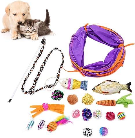 Juguetes de Regalo para Gatos Diseño de Animales Juguetes Divertidos para Gatos Mascotas Jugar Masticar y Entrenar (Multicolor): Amazon.es: Deportes y aire libre