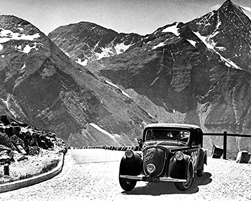 1940 ? Steyr 220 Saloon in European Rally Automobile Photo Poster Alps from AutoLit