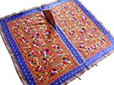 Multicolor Hand Embroidered Mirror Kutch Wall Hanging Huge Indian Tapestry Textile - 60 Inch X 55 Inch