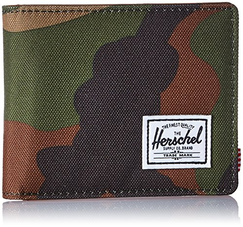 Herschel Supply Co. Men's Hank RFID Wallet, Woodland Camo/Tan Synthetic Leather, One Size