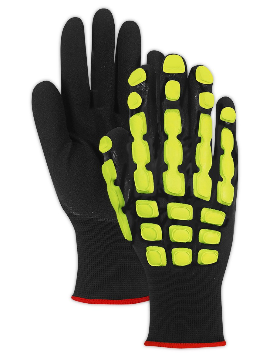Magid Glove & Safety TRX100L T-REX TRX100 Multipurpose Impact Glove, Black, Large, Polyester (Pack of 12)