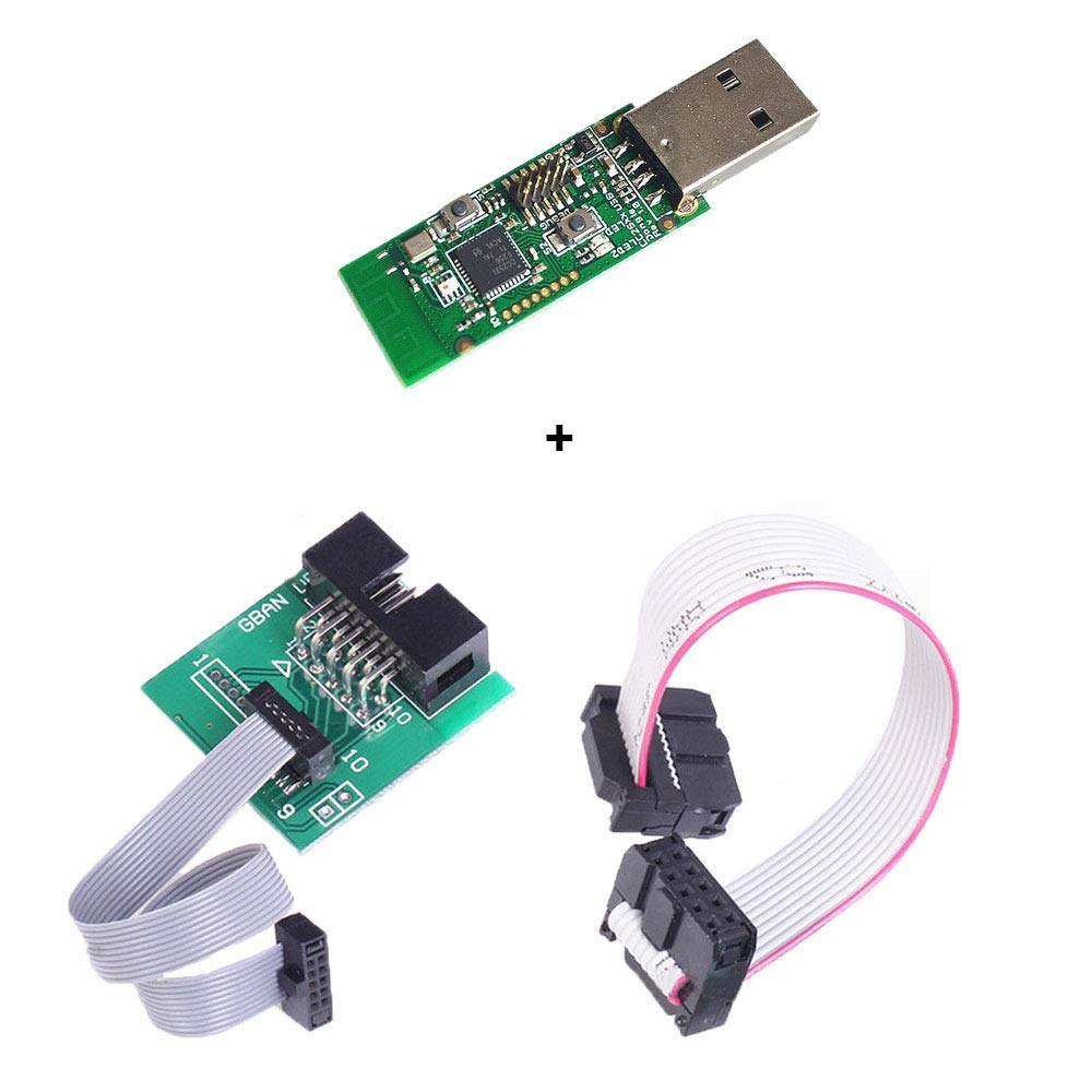 Comidox CC2531 Sniffer USB Dongle Protocol Analyzer+Bluetooth 4.0 CC2540 Zigbee CC2531 Sniffer USB Dongle BTool Programmer Connector Board Downloader Cable 1Set by Comidox