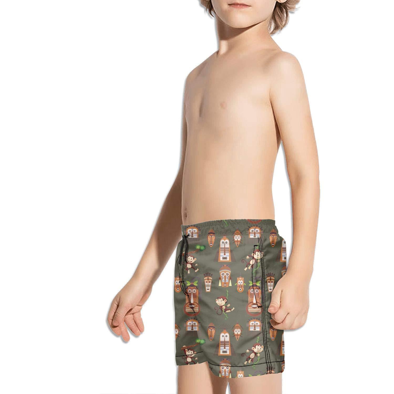 Etstk Indian Monkey Kids Durable Beach Shorts for Boys