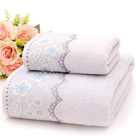 BAOLIJIN Bath Towels Set 3 Piezas de algodón Plum Blossom Embroideried Toallas de baño Set Toalla
