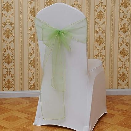 Flower Bow Chair Back Cover Net Sash Back Corbata Elegante Party ...