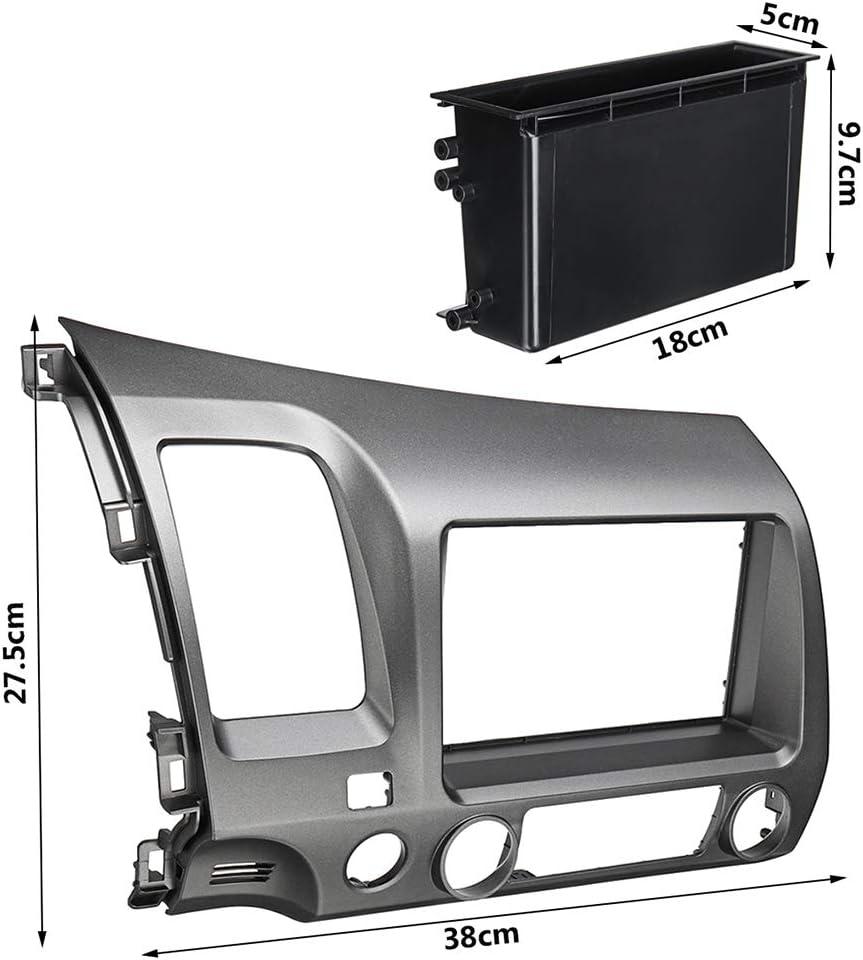 ben-gi Reemplazo para 2006-2011 Cívico en el Tablero de 2 DIN Car Radio Estéreo Kit de Acabado + Arnés + CD Box: Amazon.es: Hogar