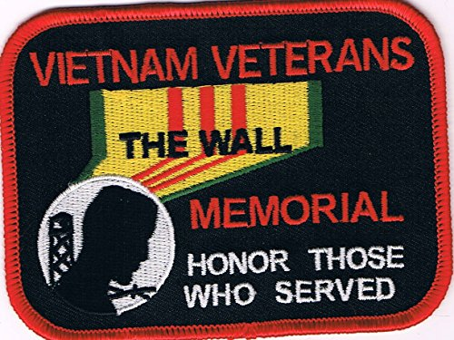 (VIETNAM VETERANS MEMORIAL THE WALL HONOR THOSE WHO SERVED PATCH - Color - Veteran Owned Business.)