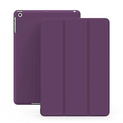KHOMO Funda iPad Mini 1, 2, 3 - Carcasa Morada Ultra Delgada con Smart Cover para Apple iPad Mini, Mini 2 Retina, Mini 3 - Dual Purple