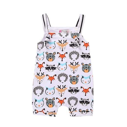 6c113a14a213 Amazon.com  Baby Girl Boy Clothes Newborn Animal Print Bodysuit ...