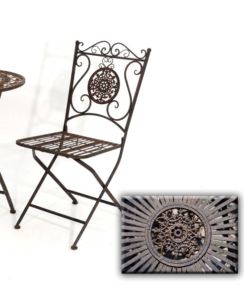 Stuhl Vigo Metall dunkelbraun Gartenstuhl Sitzstuhl Klappstuhl B 40 cm