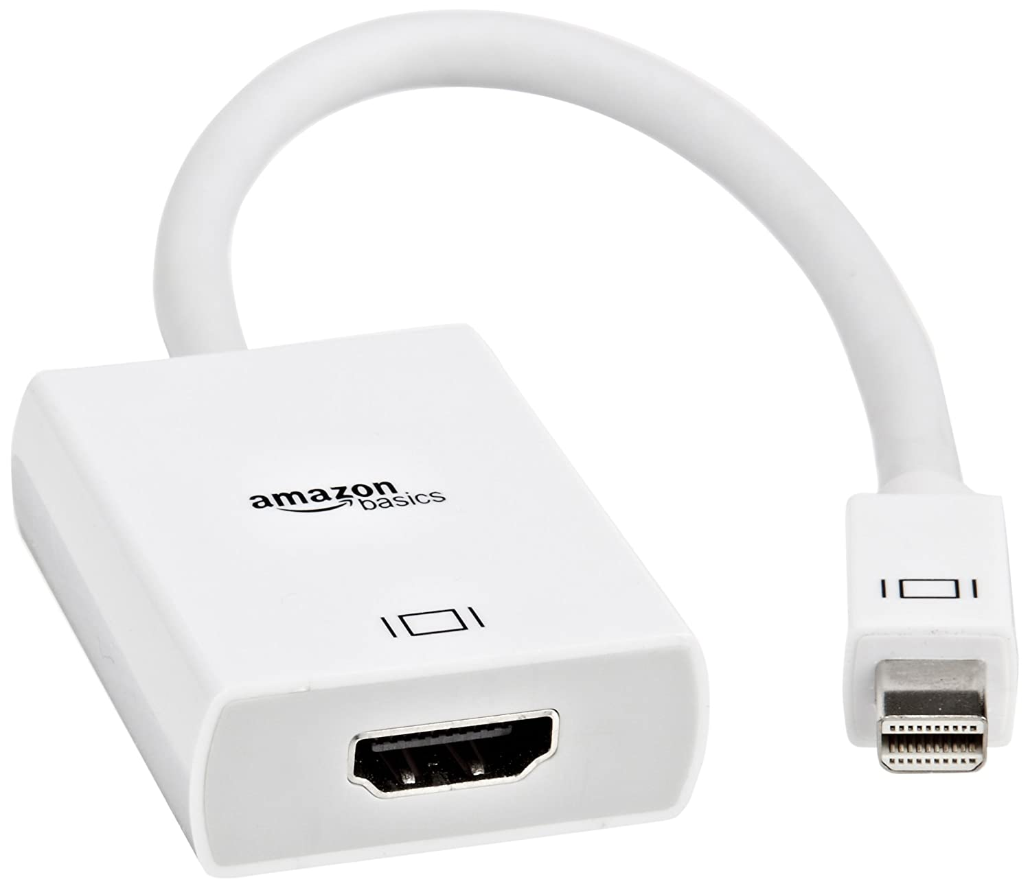 AmazonBasics Mini DisplayPort (Thunderbolt) to HDMI Adapter, 10-Pack